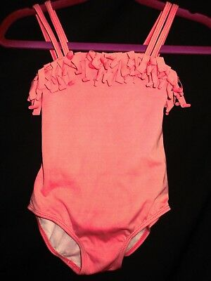 BABY GIRL GYMBOREE 1 PIECE SWIMSUIT BATHING SUIT PEACH PINK SIZE 18-24 Months