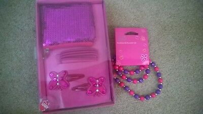 Girls Pack - Purse/clips/necklace/Roxy Bag/Peppa Pig necklace & Clips ALL NEW