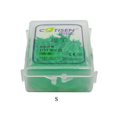16-Box Dental Plastic Wedges with Hole Round Stern 4 Colors Mixed TK