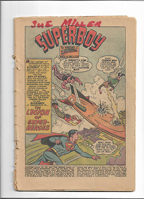 Adventure Comics #247 1St Legion Of Super-Heroes 1958 Coverless Superman Dc