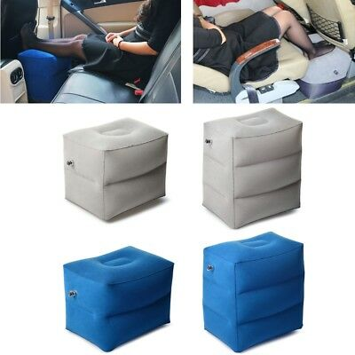 Portable Inflatable Footrest Travel Air Cushion with Storage Bag and Dust Cover