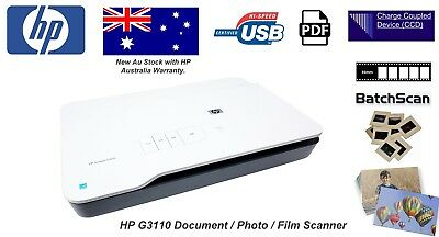 HP ScanJet G3110 Flatbed Photo Scanner+Transparency adapter P/N:L2698A AU Stock