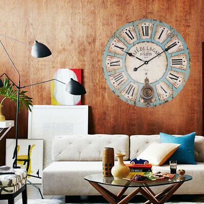 Extra Large Shabby Chic Wall Clock 60Cm Antique Vintage Style