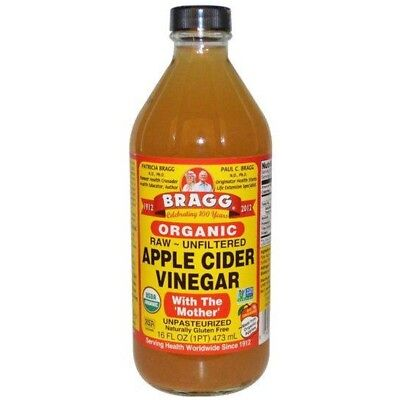 2 x Bragg Organic Apple Cider Vinegar 473ml with The Mother, Raw & Unfiltered