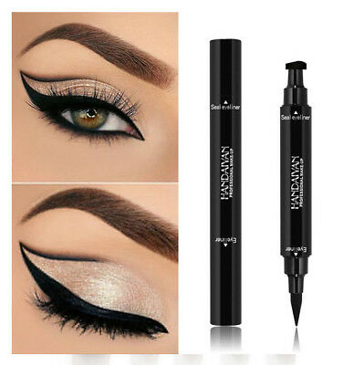 Winged Eyeliner Stamp Waterproof Makeup Cosmetic Eye Liner Pencil Black Liquid