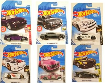 2018 Hot Wheels J Case Mix Jdm 52 Chevy Mooneyes Skyline Type X Acura - Lot Of 6