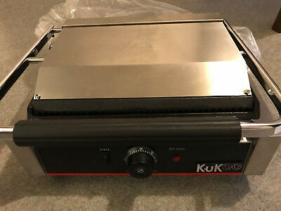 KuKoo Grooved / Flat Panini Press Commercial Grill Toaster