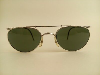 AUTHENTIC Vintage B&L Ray Ban Deco Metals Oval Silver G-15 W1536 USA