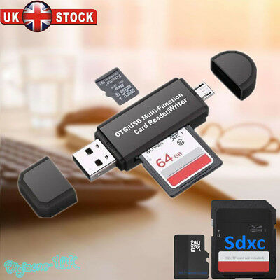 Micro USB OTG to USB 2.0 Adapter SD Card Reader For Android Phone Tablet Mobile