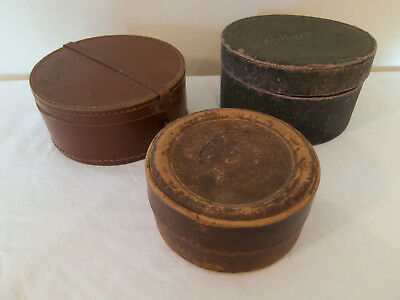 3 Vintage Collar Boxes