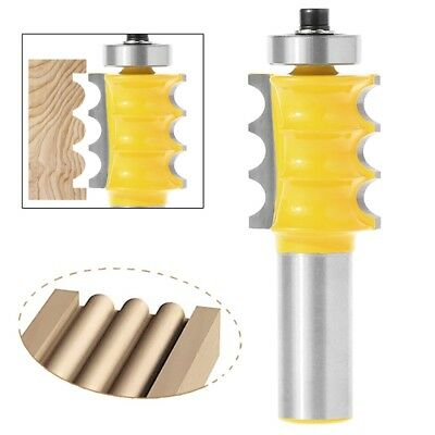 """Large Triple Bead Column/Face Molding Router Bit -1/2"""" Shank For Woodworking NEW"""