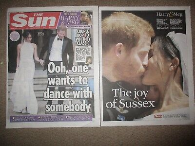 UK Meghan Markle Prince Harry The Sun Newspaper Cover Clippings