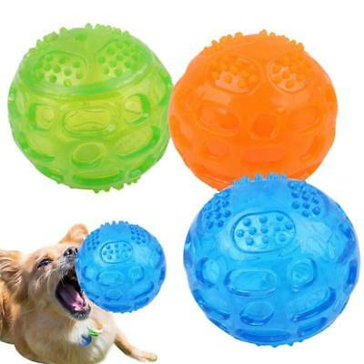 Dog Pet Chew Ball Waterproof Squeak Sound Toys Bite Dogs Training Tooth Clean LH