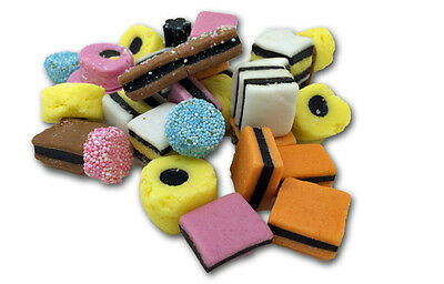UK SWEETS  Bassetts  Liquorice  Allsorts in 200g Bulk Bag