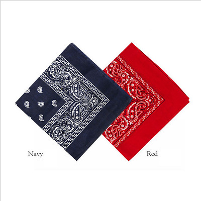 NEW Extra Large Paisley Bandana Bikers Head SCARF in 4 Colours Soft Lightweight
