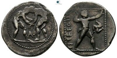 Savoca Coins Pamphylia Aspendos Stater Wrestlers Silver 10,75g/23mm €ECK1218