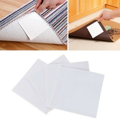4 PCS Square Double-sided Adhesive Non-woven Carpet Anti-slip Tape