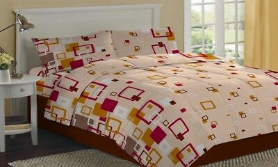 6 x Cotton bedsheet set beige color (sheet and 2 pillow cover) At Whole Sale