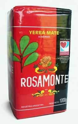 1kg 1000g Yerba Mate Rosamonte Tea With Stems Argentina Free Worldwide Delivery
