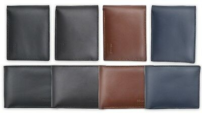 Nuvola Pelle Mens Bifold Wallet in Soft Leather with Inside Zip Coin Pocket ID Window and Card Holders Black