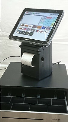 """Complete Epos Till System, 12"""" Touch Screen POS, Receipt Printer, Barcode Scanne"""