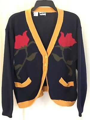 MEXX Vintage Women's Floral Long Sleeve Oversized Cardigan Sweater Size Small