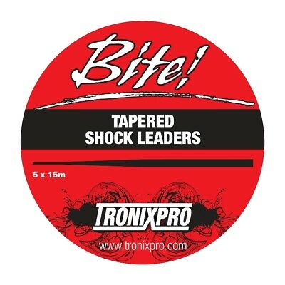 Tronixpro Tapered Shock Leader Fishing Line Leaders (5x15m) 15-50lb