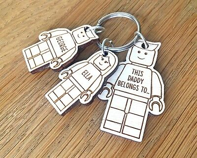 Personalised Fathers Day Gifts For Him Daddy Grandad Dad Uncle LEGO Keyring Gift