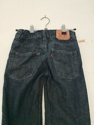 Vintage Kids Levi's 550 Relaxed Fit Unisex Retro Grunge Grey Jeans 90s 8 9 10 Y