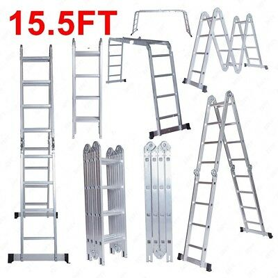 15.5FT Aluminum Multi Purpose Ladder (No Shipping! Local pickup only.)