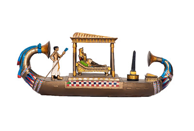 Ancient Egyptian Cleopatra Boat Statue