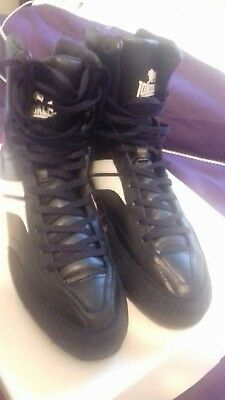 Lonsdale Destroyer Boxing boots BRAND NEW! UK 10 Black Leather!!!