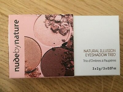 Nude by Nature Natural Illusion Eyeshadow Trio 03 Rose - NEU