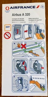 Air France - (Skyteam) - Airbus A320 10/2010 - Safety Card - Consignes
