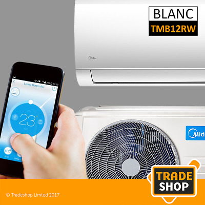 MIDEA BLANC TMB12RW SPLIT AIR CONDITIONER 12000btu + WIFI (5 YEAR WARRANTY)
