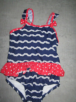 5d72cde150 TU girls swimming costume swimsuit - red, white, blue - frills bows - 9