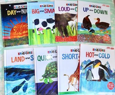 Lot of 8 ERIC CARLE My First Smart Pad Hardcover Books - OPPOSITES