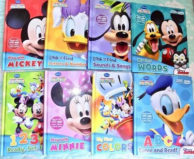 Lot of 8 Disney MICKEY MOUSE Clubhouse My First Smart Pad Hardcover Books