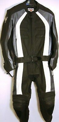 Two Pieces Leather Racing Suit