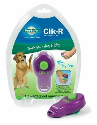 PetSafe Clik-R Training Tool Obedience Behaviour Aid Clicker For Dogs Purple