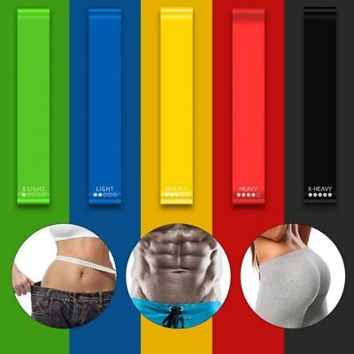 Yoga Bands Elastic Resistance Loop Exercise Gym Fitness Workout Stretch straps