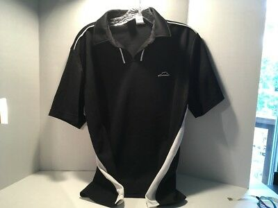PIZZA HUT Employee Polo Shirt LOGO Black Size Large No Buttons