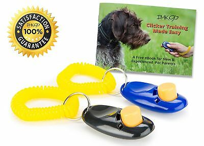 Dog Training Clicker Pet Obedience And Housebreaking2 Pack Set Pet Dog Puppy