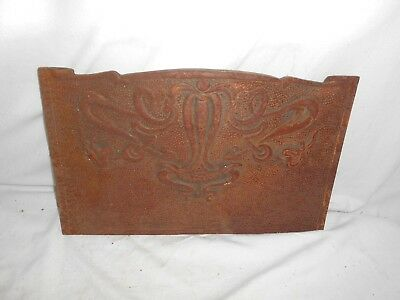 Vintage CAST IRON Stovax FIRE PLACE Fireplace AN3H Metal DECORATIVE 35cm Antique