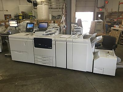 Xerox Color C75 w/ Oversize,Booklet Maker,SquareFold trim, bustle fiery 438,000