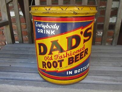 Dads Root Beer 5 Gallon Syrup Advertising Can