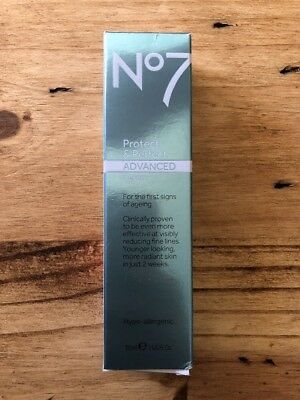 Boots No7 Protect and Perfect Advanced Serum 30 ml (1 fl oz) Tube NEW/Sealed