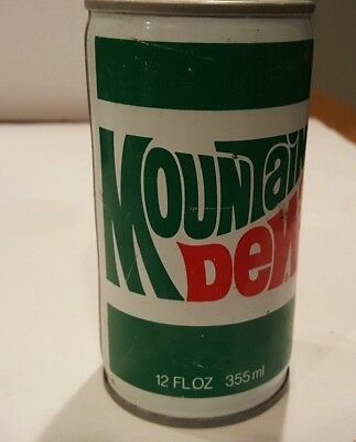 Mountain Dew Straight Steel Pull Tab  Opened Soda Can lot 2