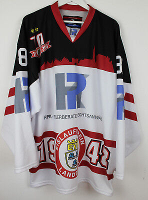 EV Landshut 17/18 Game Worn Warm up Jersey #81 Maximilian Forster - EVL 1948 -