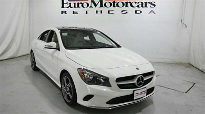 Mercedes-Benz CLA CLA 250 4MATIC Coupe mercedes benz cla250 cla 4matic awd white 17 18 used navigation blind spot coupe